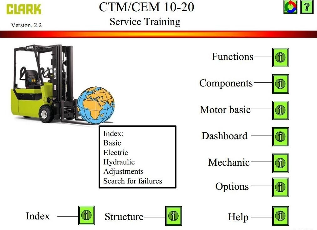 clark electric forklift truck cem10, cem12, cem16, cem service manual wiring diagram clark electric forklift truck cem10, cem12, cem16, cem20, ctm10, ctm12,