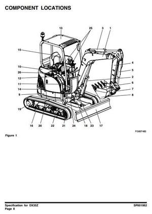 Doosan Excavator DX35Z: 5001 and Up Workshop Service Manual