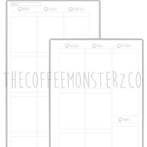 Weekly Vertical Planner Printable (A5)