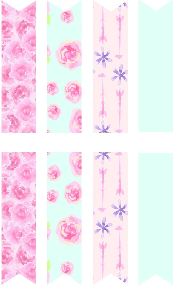 Floral Princess Page Flags (DIY sticker book)
