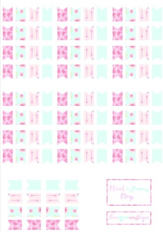 Floral Princess Flags (DIY sticker book)