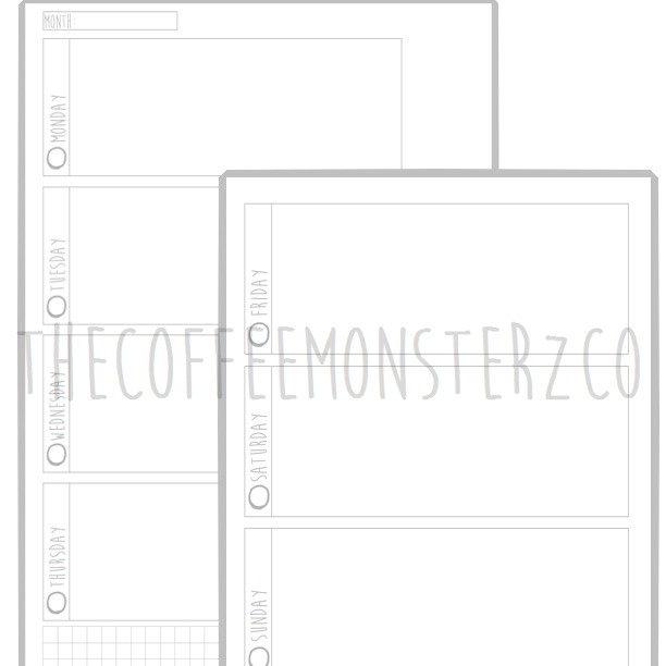 Weekly Horizontal Printable Planner (A5)