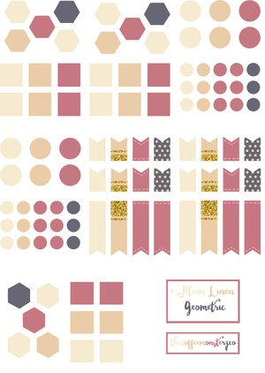 Plum Linen Geometric (DIY sticker book)