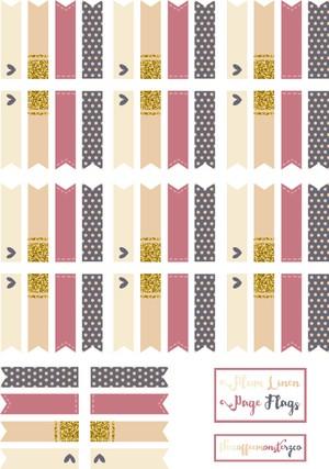 Plum Linen Page Flags (DIY sticker book)
