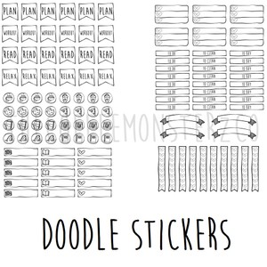 Doodle Stickers Printable