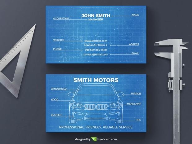 Blueprint Business Card Template