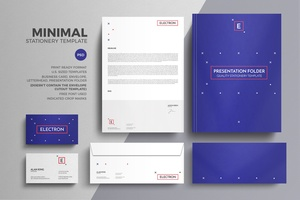 Minimal Stationery Design Template