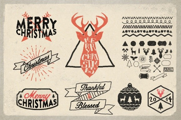 Christmas Hand Drawn Elements