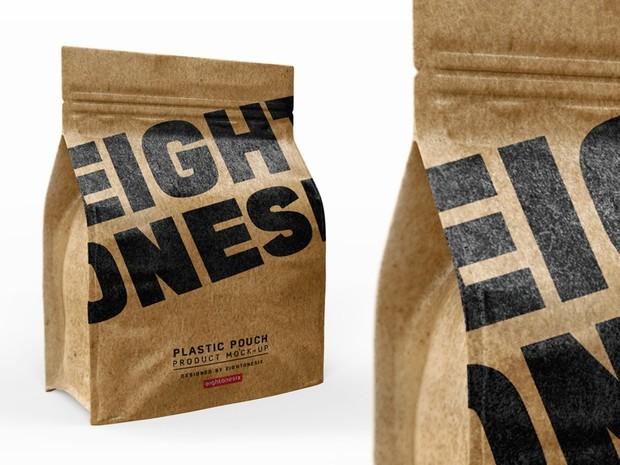 Halfside Kraft Paper Bag Mock-up