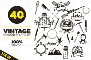 Vintage Badges and Logos