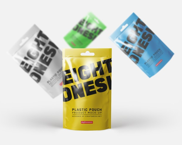 Photo Realistic Plastic Pouch Mock-Up ( Free Download )