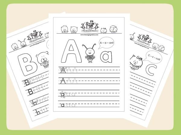 The Singing Walrus Alphabet Worksheets
