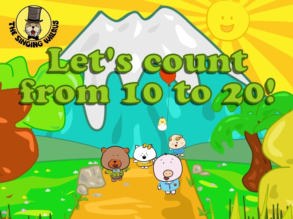 Let S Count From 10 20 Video Mp4 The Singing Walrus