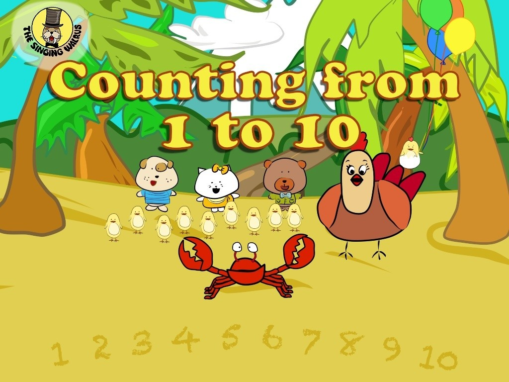 Counting From 1 10 Video Mp4 The Singing Walrus