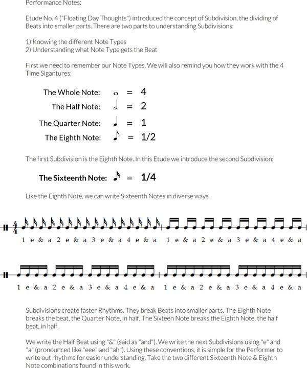 Etude No. 7 - A Subtle, Simple Zephyr