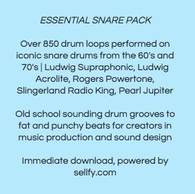 Essential Snare Pack Premium   850+ Loops   Mixes & Multitracks   WAV