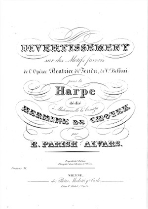 Parish Alvars: Divertissement on Bellini Beatrice di Tenda, op. 38