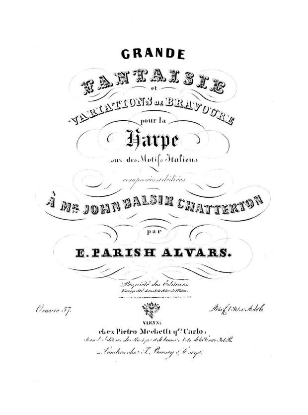 Elias Parish Alvars: Grande Fantaisie op. 57 (Introduction, cadenza, Rondo)