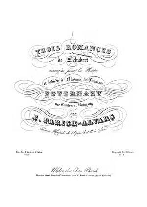 Franz Schubert: Ständchen, Frühligsglaube, Du bist die Ruh für Harfe (Parish Alvars)