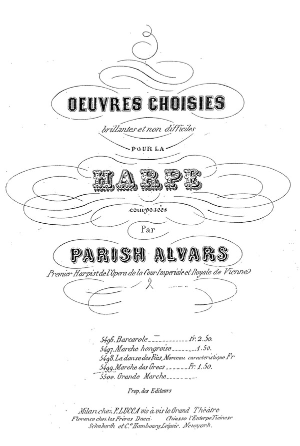 Parish Alvars: Barcarola, op 52