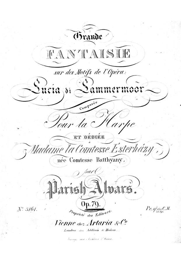 Parish Alvars: Grand Fantasia on Donizetti's Lucia di Lammermoor, op. 79