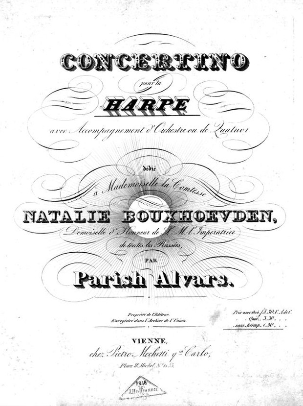 Elias Parish Alvars: Concertino Op. 34. Complete Orchestra Parts