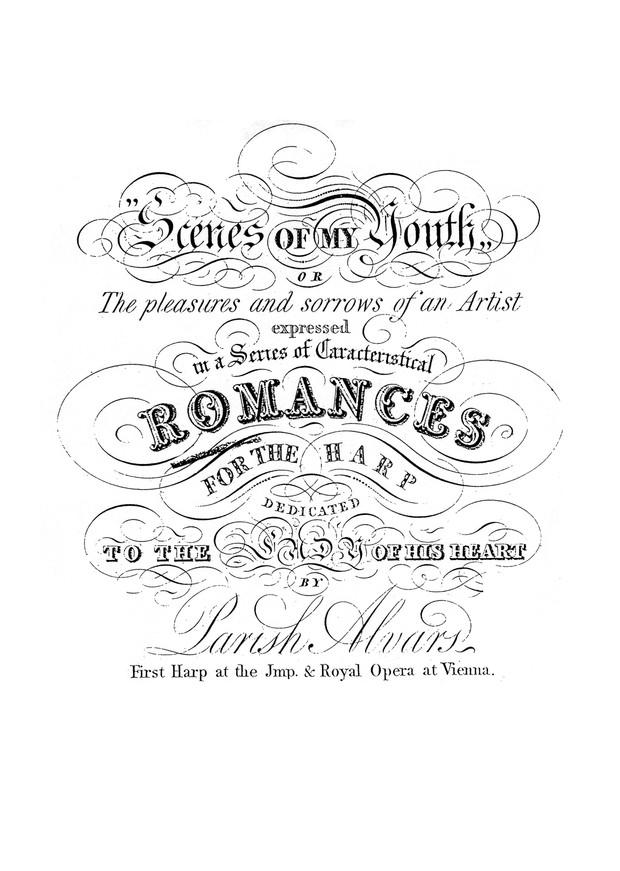 Parish Alvars: Scenes of my Youth, Romances (First series) Op. 42