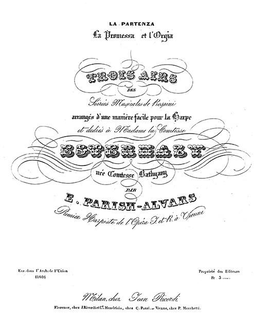 Rossini-Liszt: La Partenza, La Promessa, L'Orgia for harp