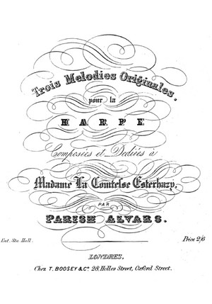 Elias Parish Alvars: 3 Original Melodies, op. 50