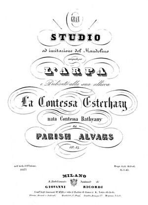 Parish Alvars: Ricordi di Napoli No. 2 Il Mandolino, op. 84