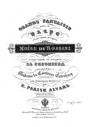 Parish Alvars: Grand Fantasia on Rossini Moïse, op. 58