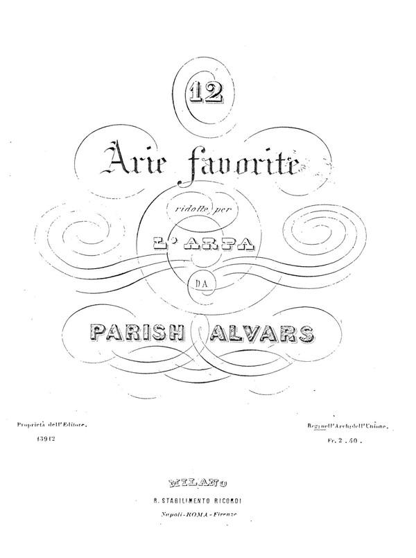 Twelve Favourite Arias (various authors)