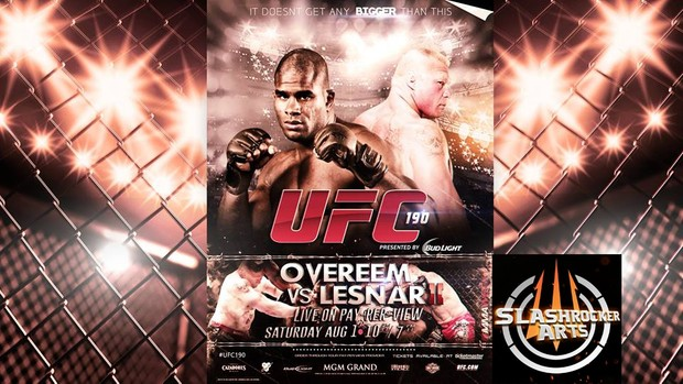 Ufc  Custom Poster Template Psd  Slashrockerarts  SellfyCom