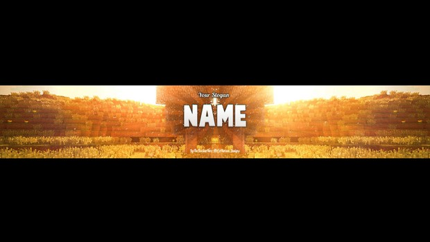 Minecraft Sunset Youtube Banner Template