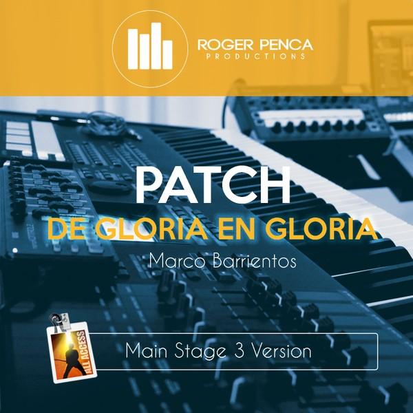 PATCH De Gloria en Gloria, Marco Barrientos (Main Stage 3 Version)