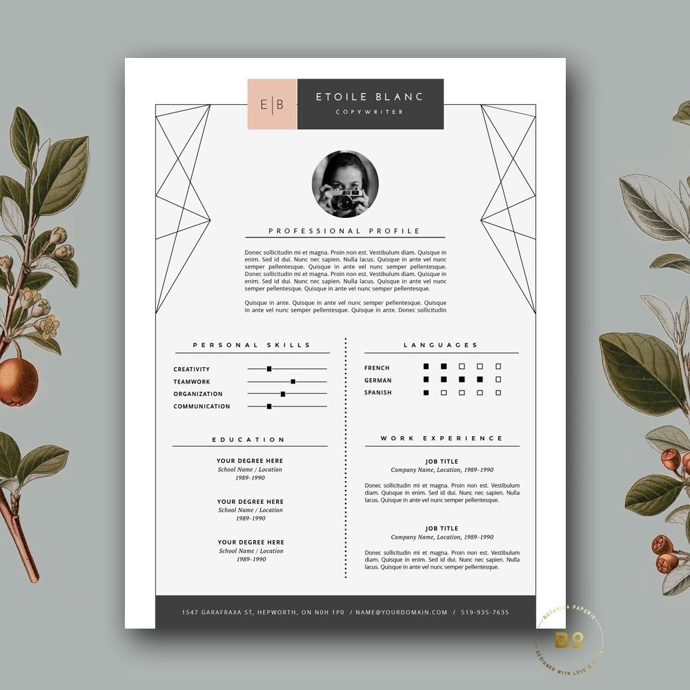 Modern Resume Template & Cover Letter Template | Creative Resume Design |  Professional CV Template