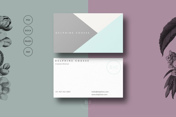 Triangle business card template 2 sided premade busi triangle business card template 2 sided premade business card modern business card colourmoves