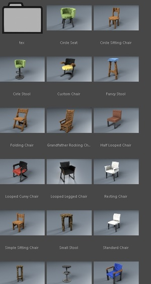 Minecraft Tables & Chairs Pack (C4D)