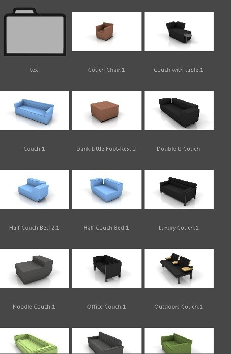Minecraft Couch Pack (C4D)