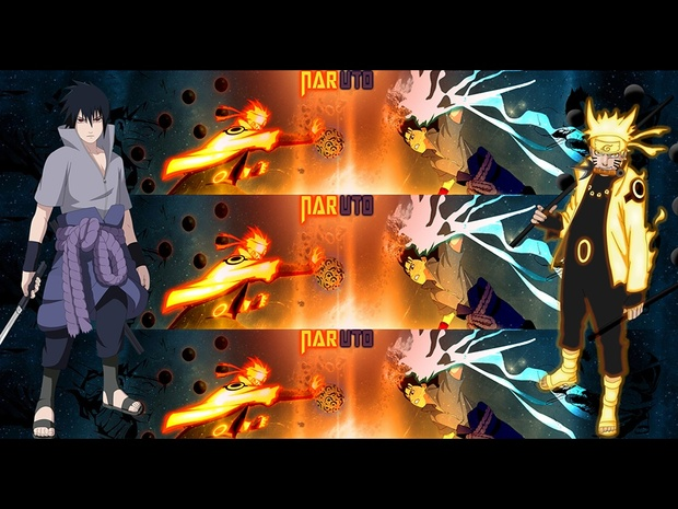 naruto vs sasuke youtube banner skyesworld