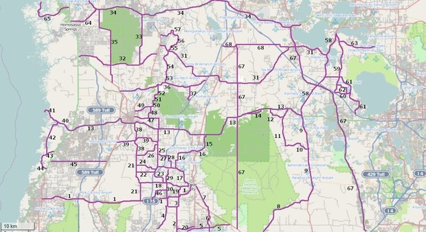 Riding Roads Map 3 in Northwest Florida