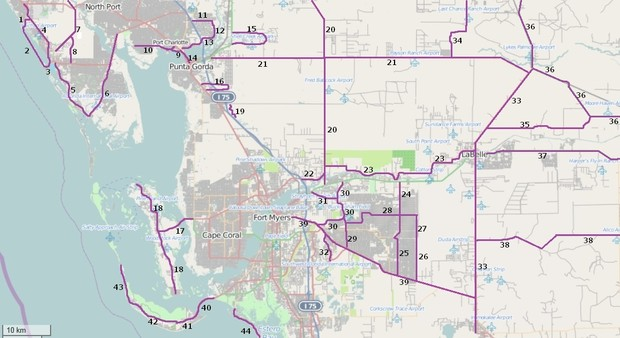 Riding Roads Map 4 in Southwest Florida