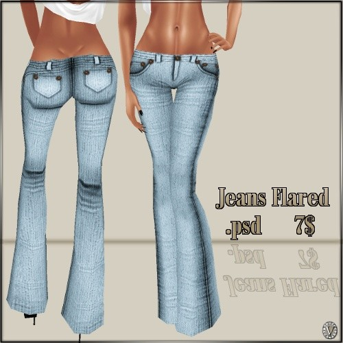 *VP* Flared Jeans Template