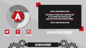 Neutral FREE 2D Outro Template - After Effects CS5 Template