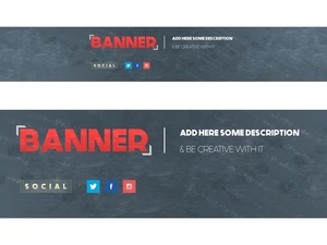 Clean Youtube Banner - Photoshop Banner Template