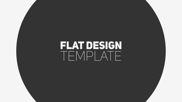 FLAT DESIGN FREE INTRO - After Effects FREE Template