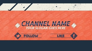 Youtube 2D Banner Template - Photoshop Banner Template