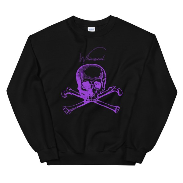 Whimsical skull - Crewneck Sweatshirt