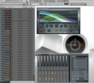Studioloopz Brushed metal flstudio skin