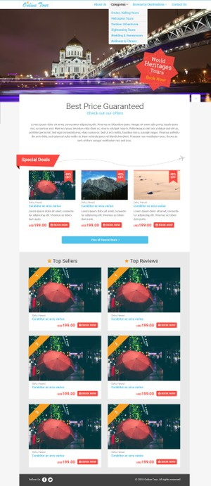 Travel Corporate + eCommerce PSD